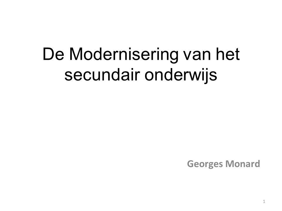 De Modernisering van het secundair onderwijs