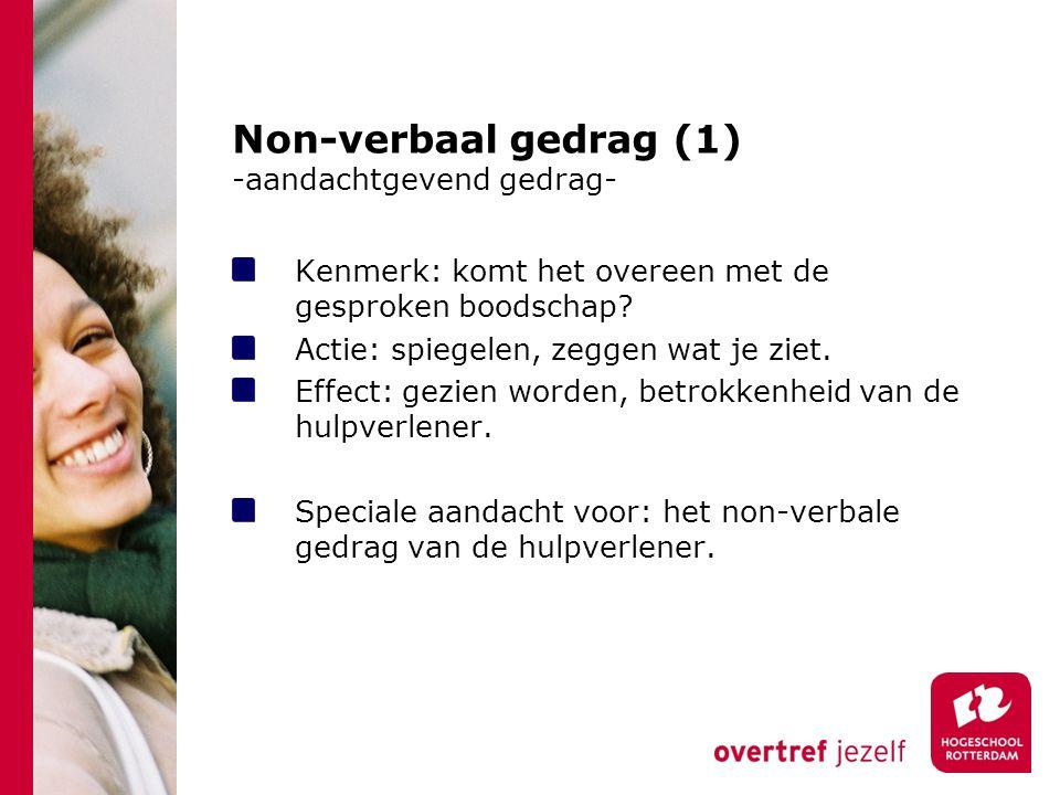 Non-verbaal gedrag (1) -aandachtgevend gedrag-