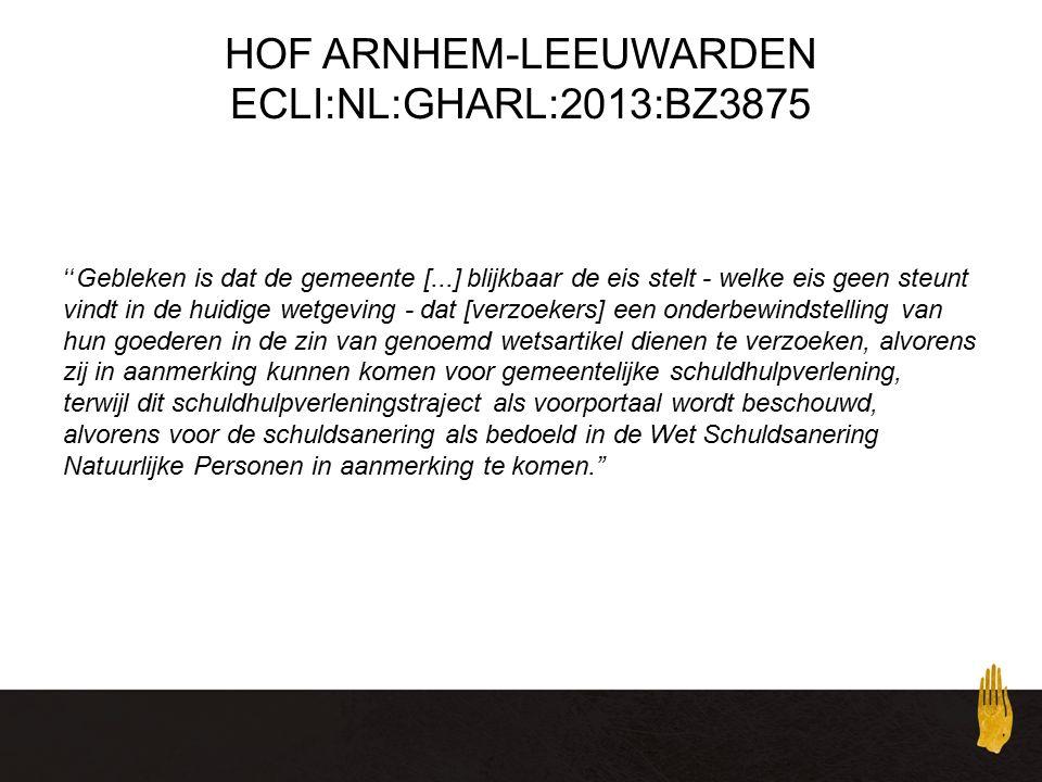 HOF ARNHEM-LEEUWARDEN ECLI:NL:GHARL:2013:BZ3875