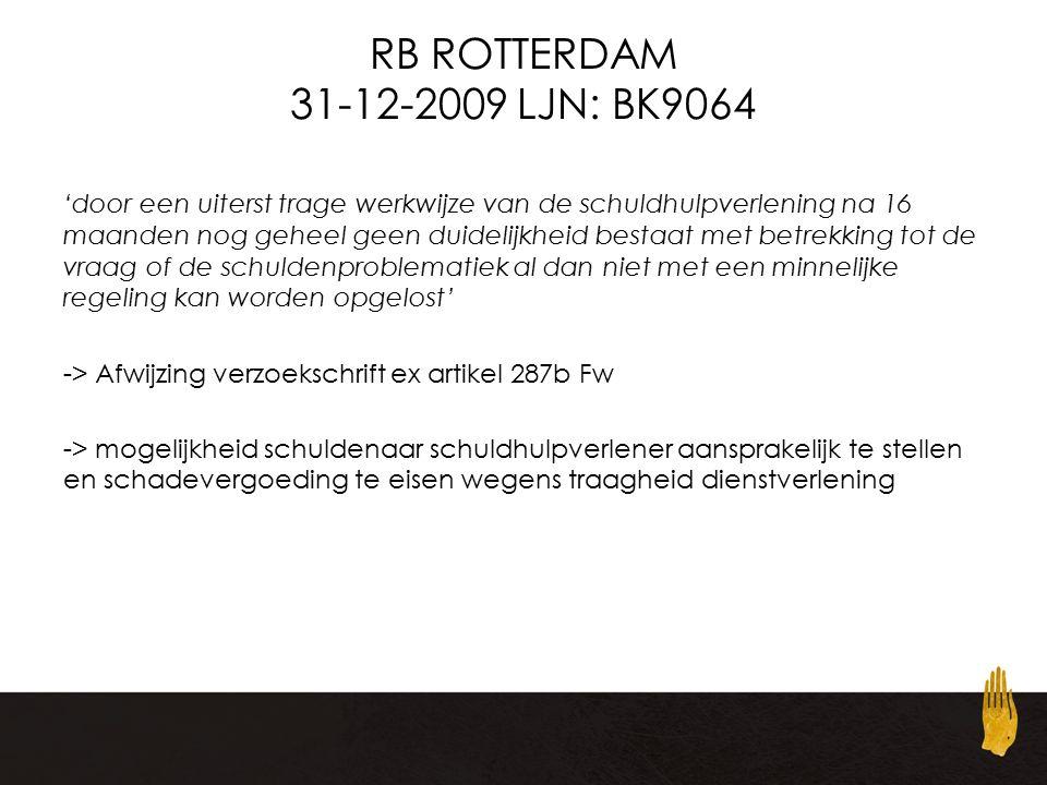 RB ROTTERDAM 31-12-2009 LJN: BK9064