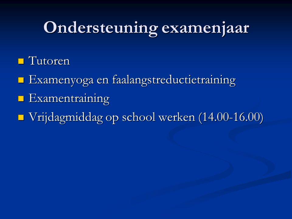 Ondersteuning examenjaar