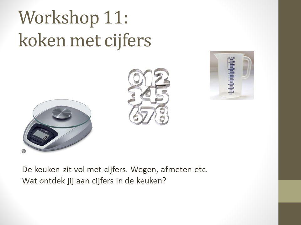 Workshop 11: koken met cijfers