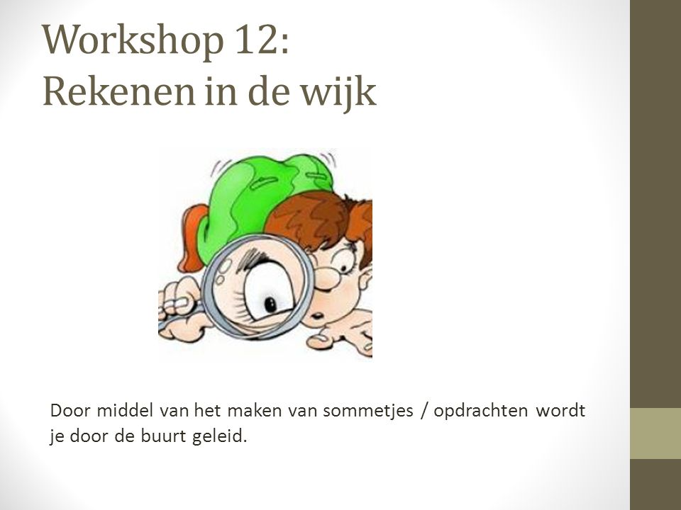 Workshop 12: Rekenen in de wijk