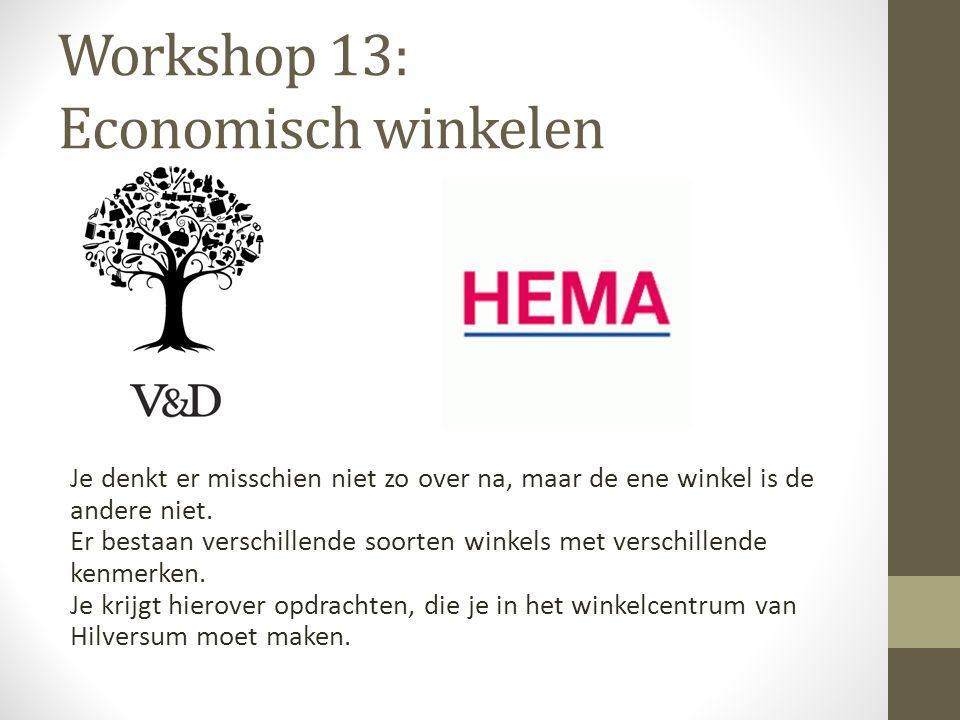 Workshop 13: Economisch winkelen