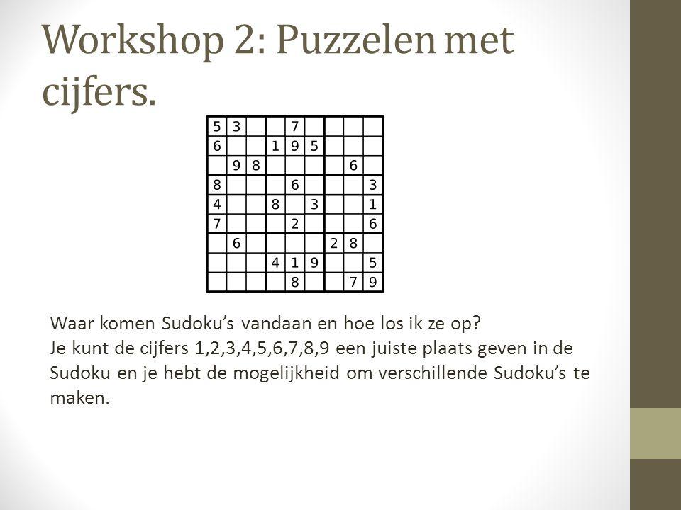 Workshop 2: Puzzelen met cijfers.