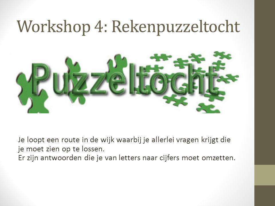 Workshop 4: Rekenpuzzeltocht