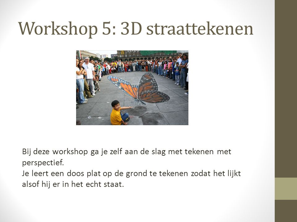 Workshop 5: 3D straattekenen