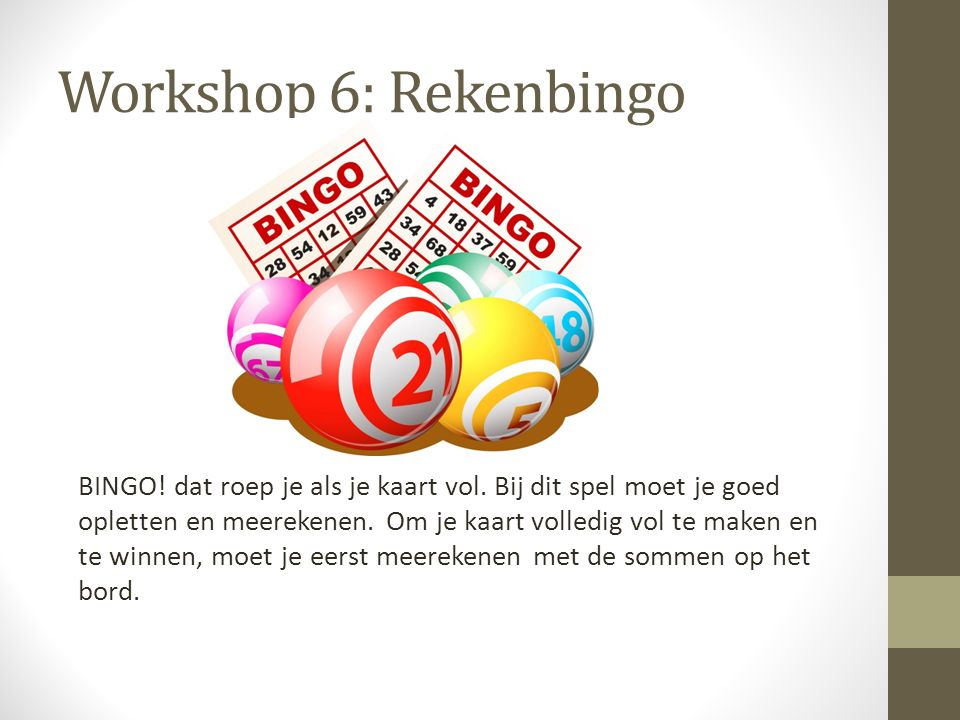 Workshop 6: Rekenbingo