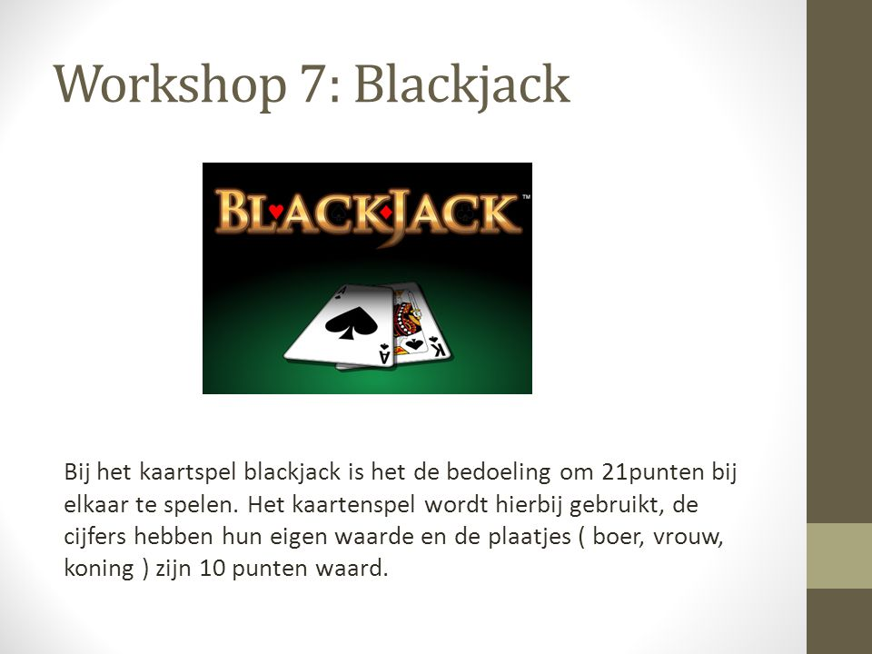 Workshop 7: Blackjack