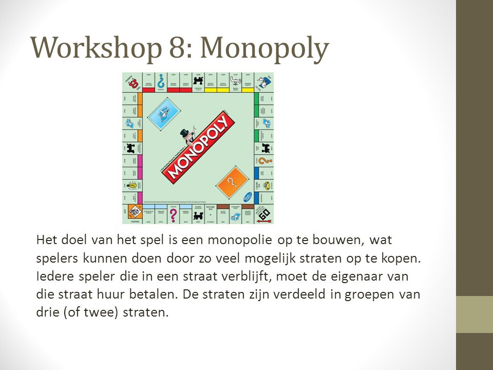 Workshop 8: Monopoly