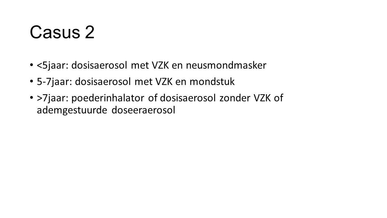 Casus 2 <5jaar: dosisaerosol met VZK en neusmondmasker
