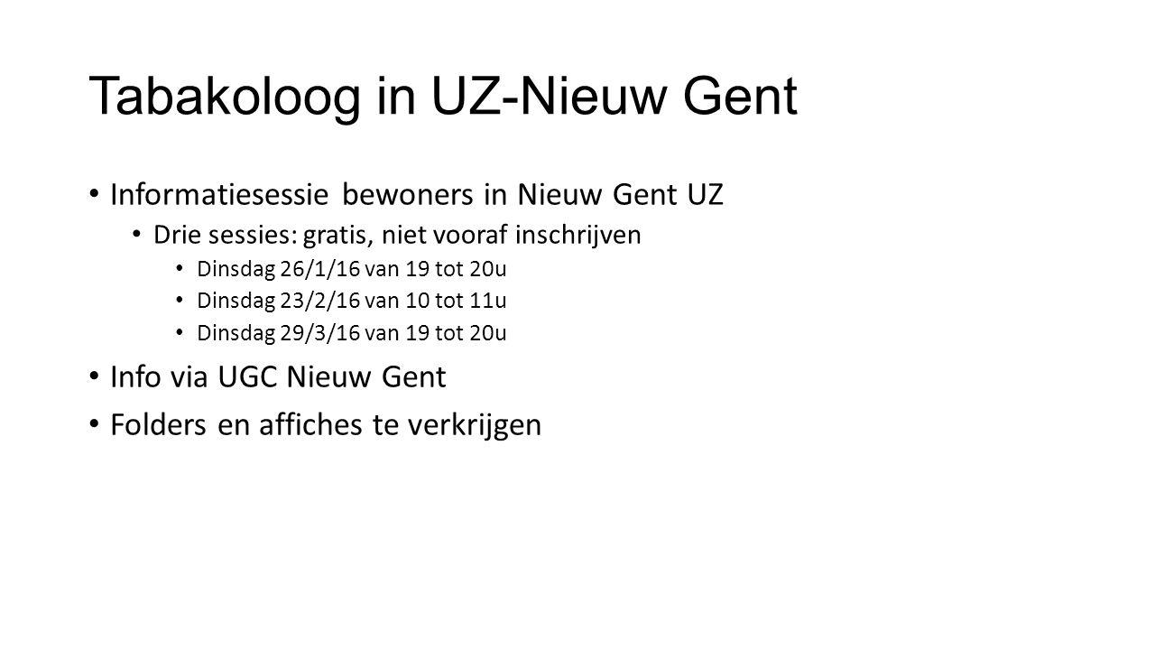 Tabakoloog in UZ-Nieuw Gent