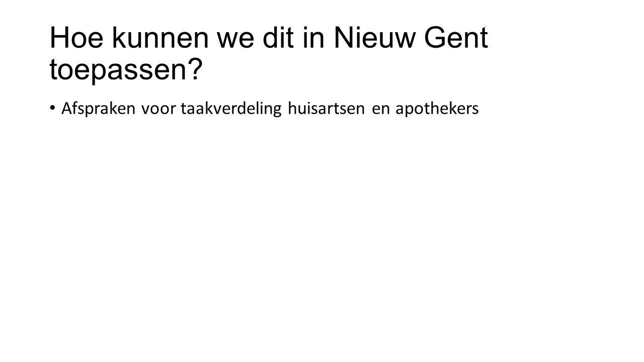 Hoe kunnen we dit in Nieuw Gent toepassen