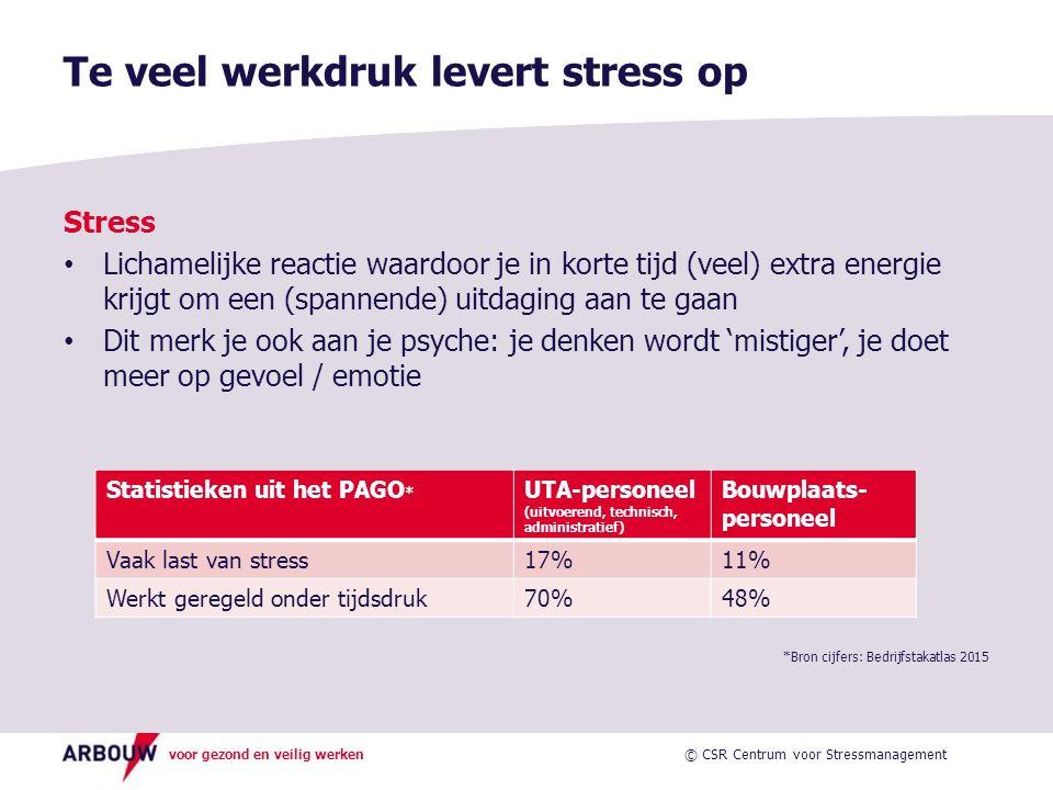 Te veel werkdruk levert stress op