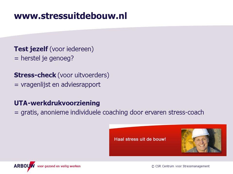 www.stressuitdebouw.nl Test jezelf (voor iedereen)