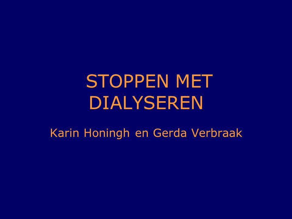STOPPEN MET DIALYSEREN