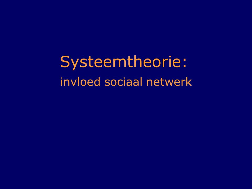 Systeemtheorie: invloed sociaal netwerk