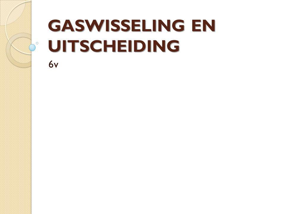GASWISSELING EN UITSCHEIDING