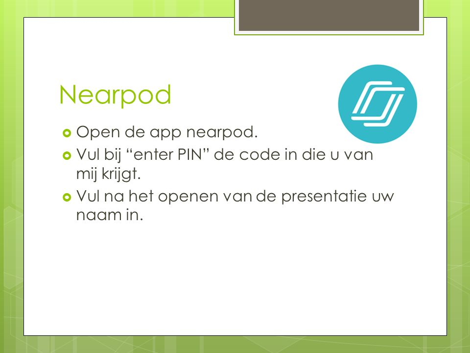 Nearpod Open de app nearpod.