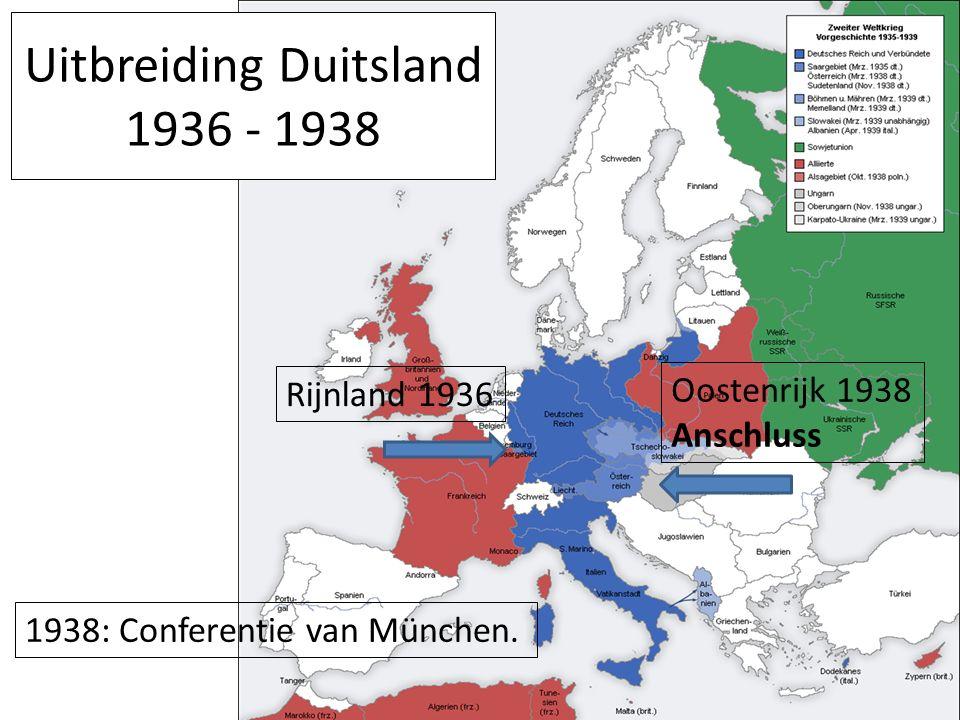 Uitbreiding Duitsland 1936 - 1938