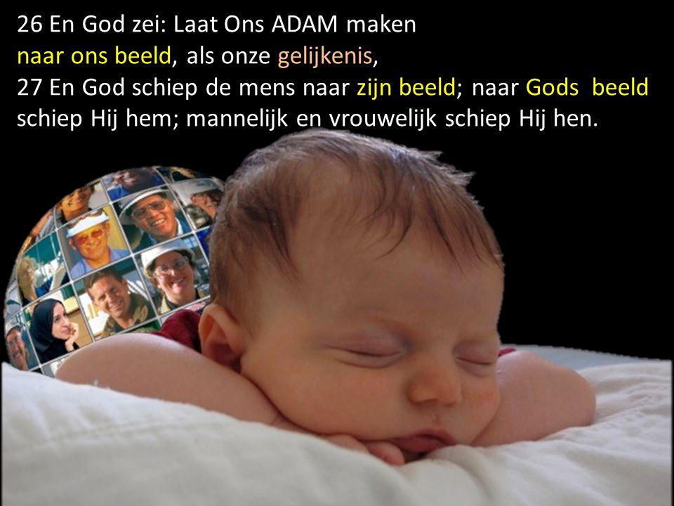 26 En God zei: Laat Ons ADAM maken
