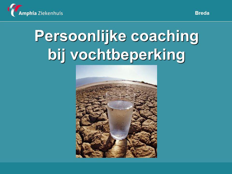 Persoonlijke coaching bij vochtbeperking
