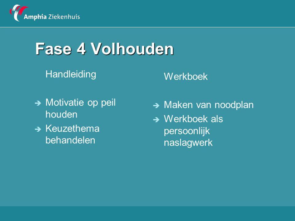 Fase 4 Volhouden Handleiding Werkboek Motivatie op peil houden