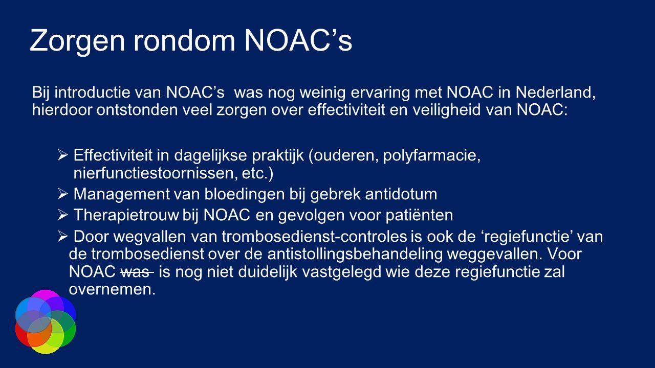 Zorgen rondom NOAC's