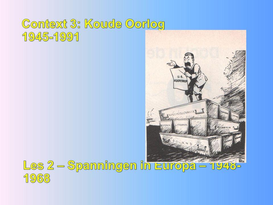 Context 3: Koude Oorlog 1945-1991