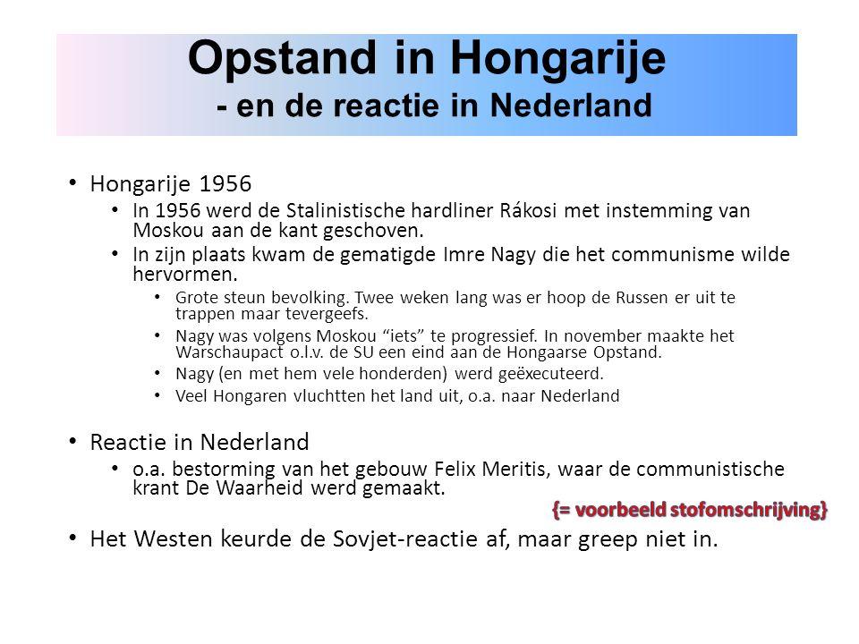 Opstand in Hongarije - en de reactie in Nederland