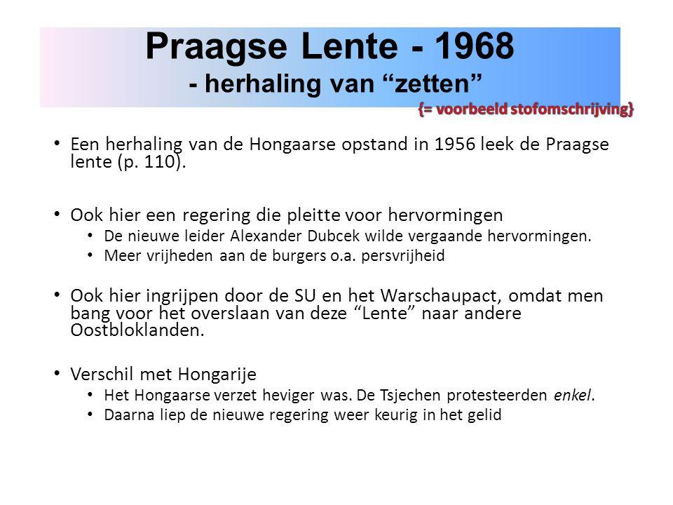 Praagse Lente - 1968 - herhaling van zetten