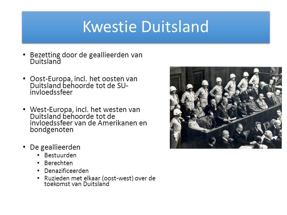 Kwestie Duitsland Bezetting door de geallieerden van Duitsland
