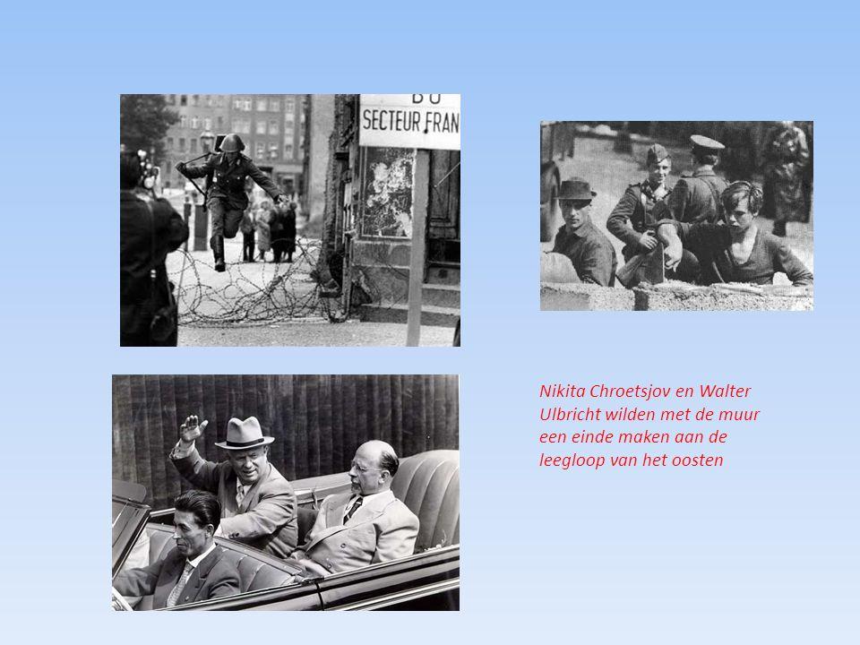 Nikita Chroetsjov en Walter Ulbricht wilden met de muur een einde maken aan de leegloop van het oosten