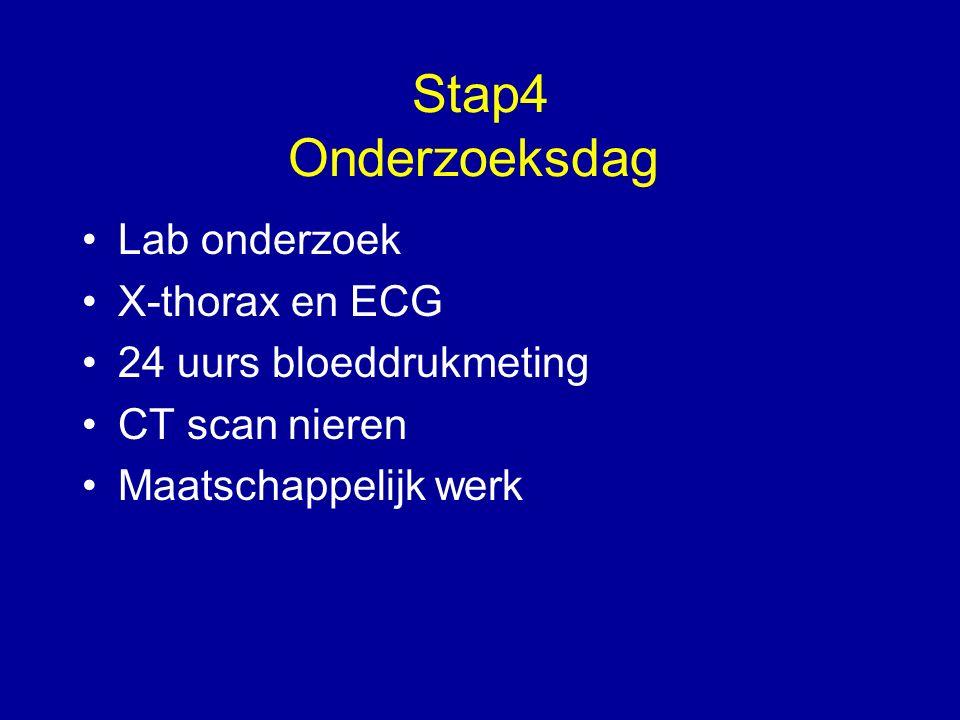 Stap4 Onderzoeksdag Lab onderzoek X-thorax en ECG