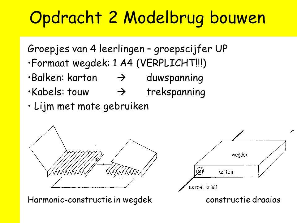 Opdracht 2 Modelbrug bouwen