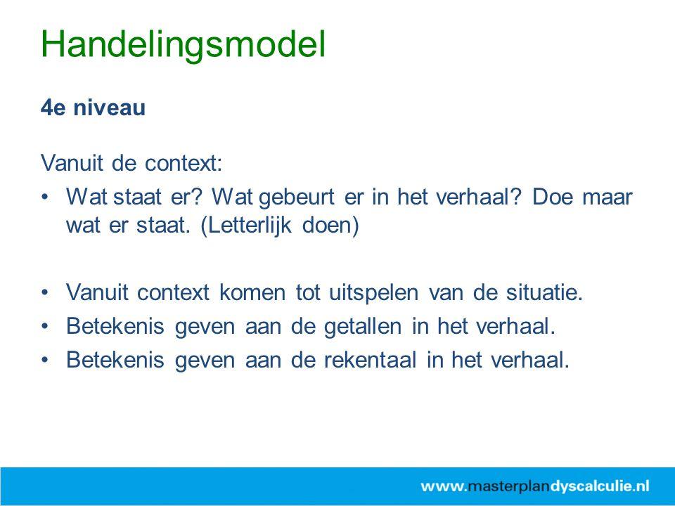 Handelingsmodel 4e niveau Vanuit de context: