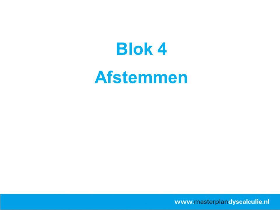 Blok 4 Afstemmen 26-4-2017 ERWD