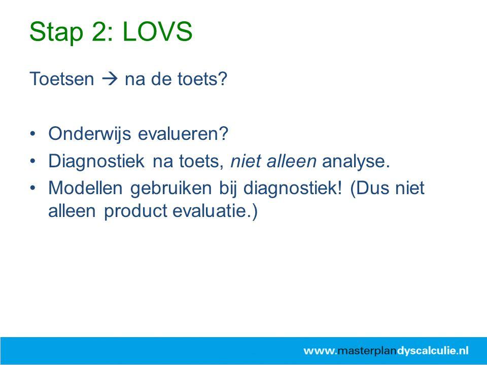 Stap 2: LOVS Toetsen  na de toets Onderwijs evalueren