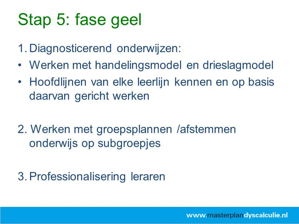 Stap 5: fase geel Diagnosticerend onderwijzen: