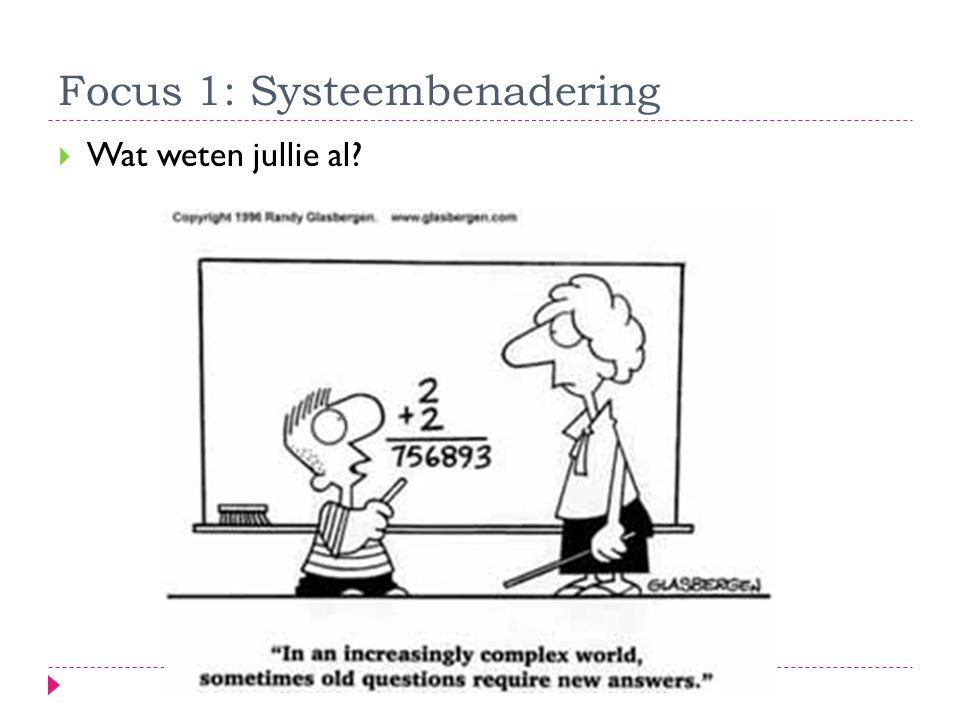 Focus 1: Systeembenadering