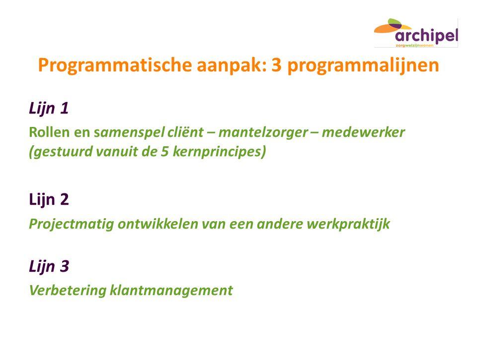 Programmatische aanpak: 3 programmalijnen