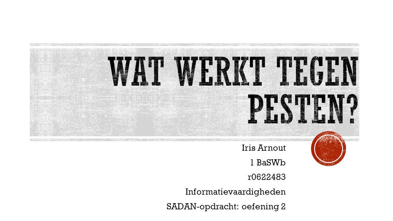 Wat werkt tegen pesten Iris Arnout 1 BaSWb r0622483