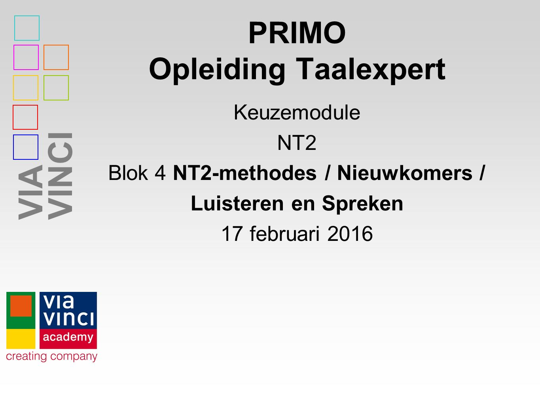 PRIMO Opleiding Taalexpert