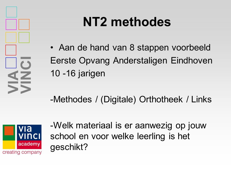 NT2 methodes Aan de hand van 8 stappen voorbeeld