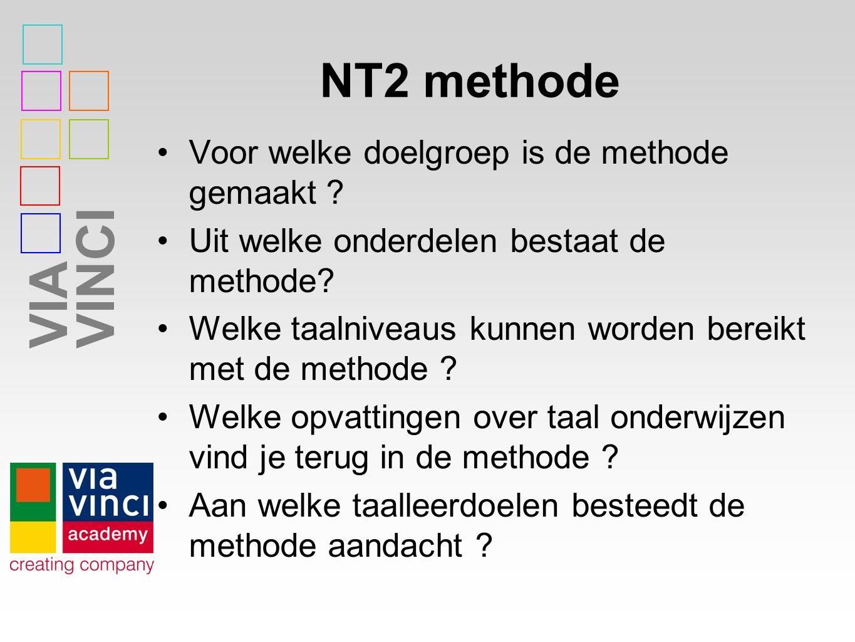 NT2 methode Voor welke doelgroep is de methode gemaakt