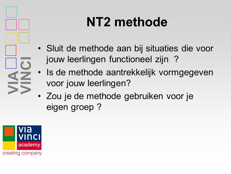 NT2 methode Sluit de methode aan bij situaties die voor jouw leerlingen functioneel zijn