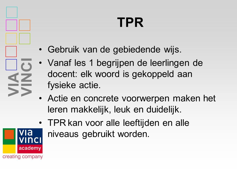 TPR Gebruik van de gebiedende wijs.