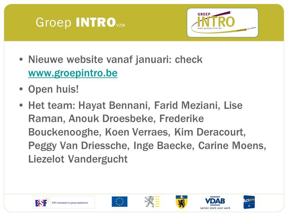 Nieuwe website vanaf januari: check www.groepintro.be