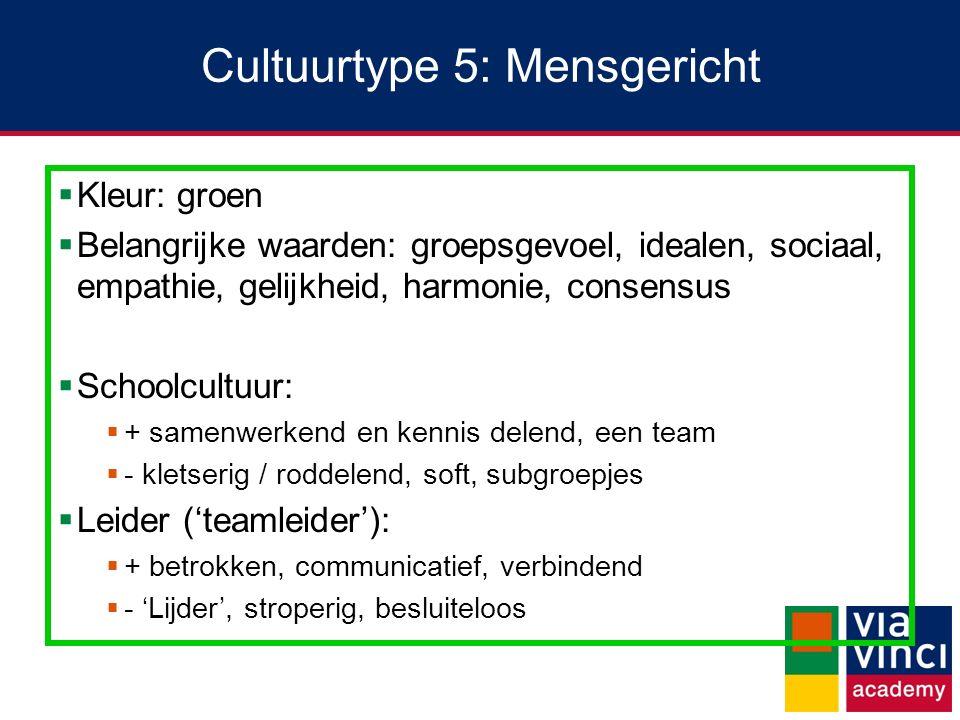 Cultuurtype 5: Mensgericht