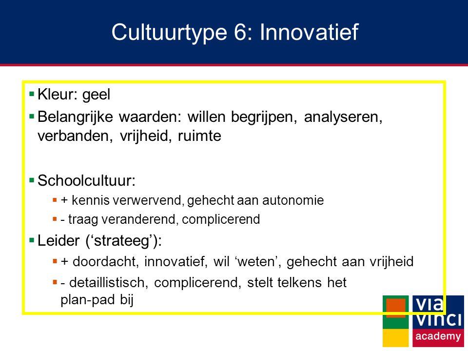Cultuurtype 6: Innovatief